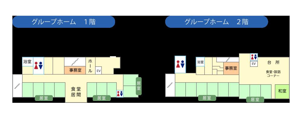 白松苑グループホームフロアマップ